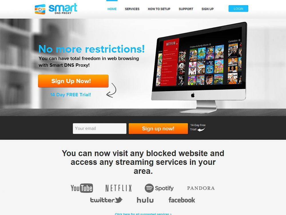 smartdnsproxy.com Screenshot