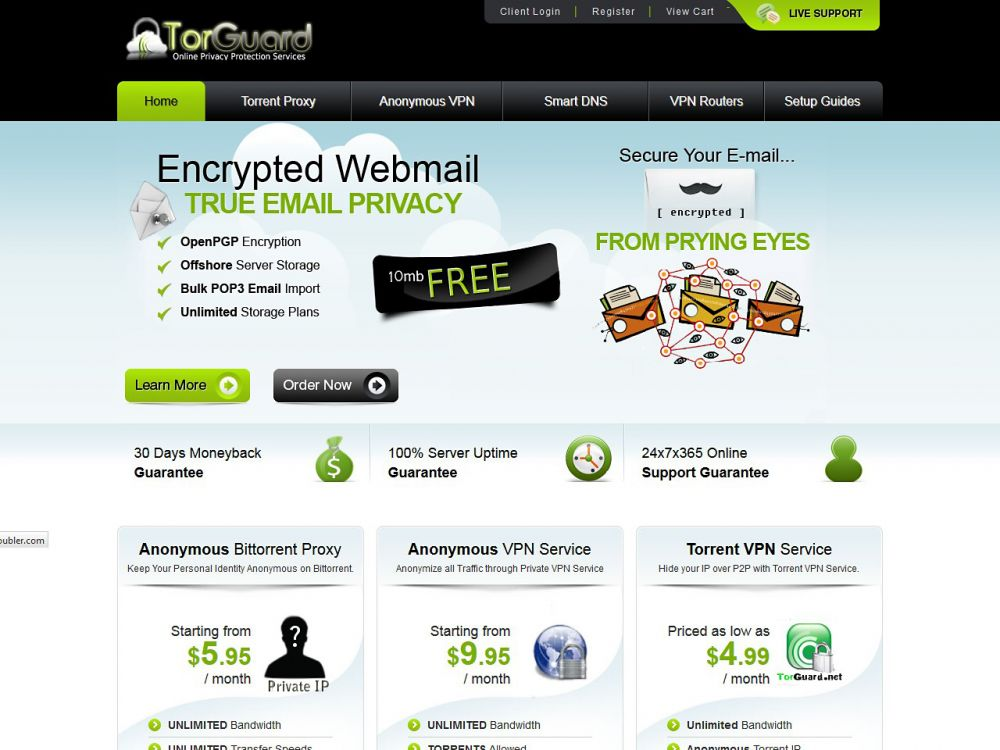 torguard.net Screenshot