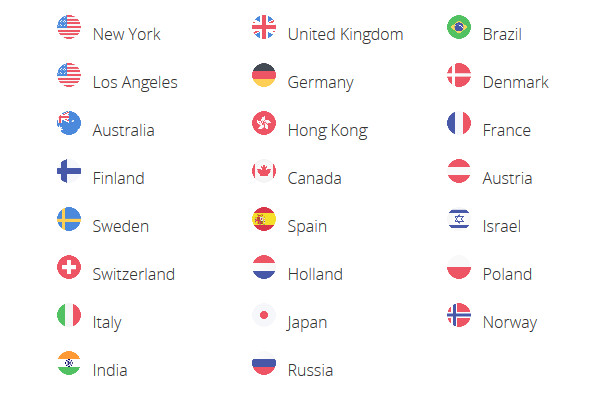 SaferVPN Countries