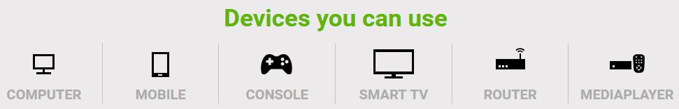 SaferVPN Devices