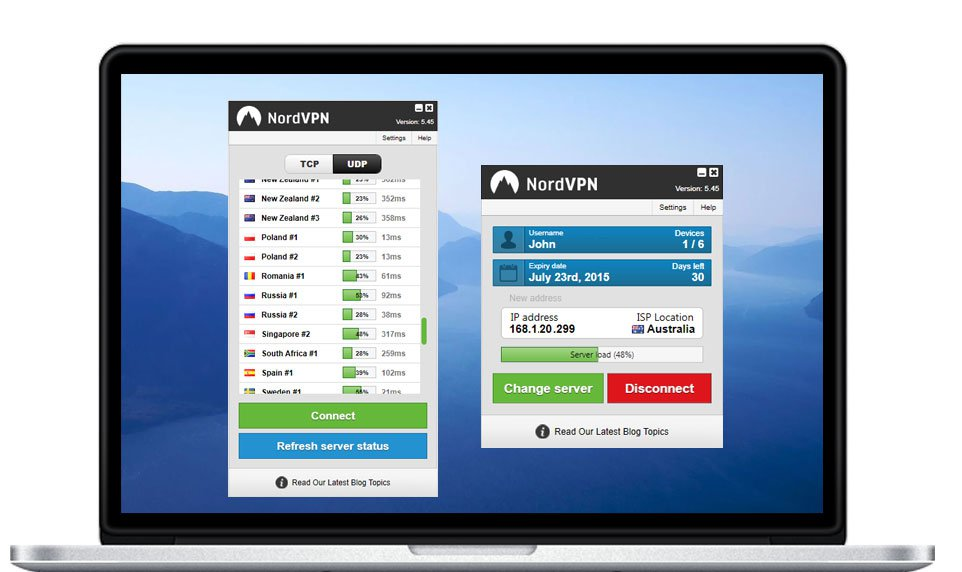nordvpn software windows-laptop